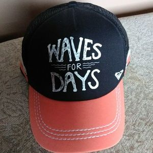 """""""Waves for Days"""" Coral and Black Hat"""